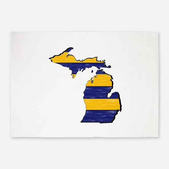 FOR MICHIGAN 5'x7'Area Rug
