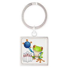 Tree Frog Square Keychain