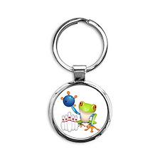 Tree Frog Round Keychain