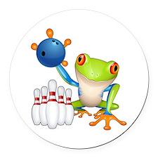 Tree Frog Round Car Magnet