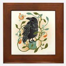 Celtic Crow Framed Tile