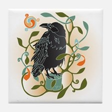 Celtic Crow Tile Coaster