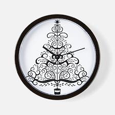 Vintage Christmas Tree Wall Clock
