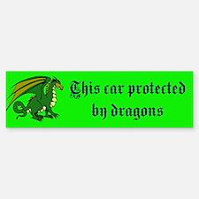 protective dragon Bumper Bumper Bumper Sticker