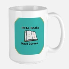 Real Books Have Curves Large Mug Mugs