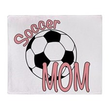 SOCCER MOM Throw Blanket