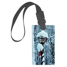 Christmas Lamppost in the Snow Luggage Tag