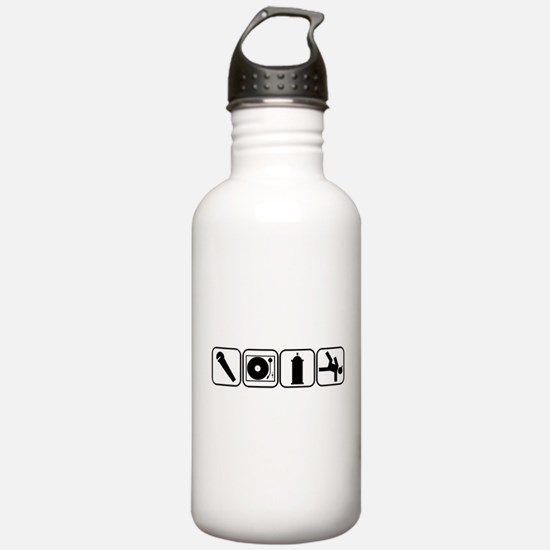 Elements of Hip Hop Water Bottle