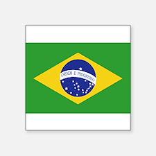 Brazil Flag Rectangle Sticker