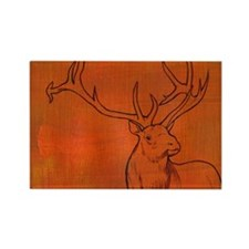 Elk with antlers Rectangle Magnet