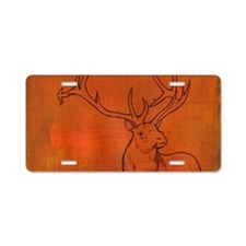 Elk with antlers Aluminum License Plate