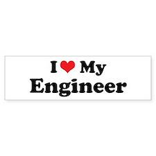 i heart my engineer.png Bumper Bumper Sticker