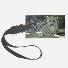 Snow Leopard Cubs Luggage Tag