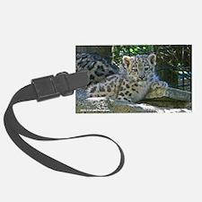 Snow Leopard Cub Luggage Tag