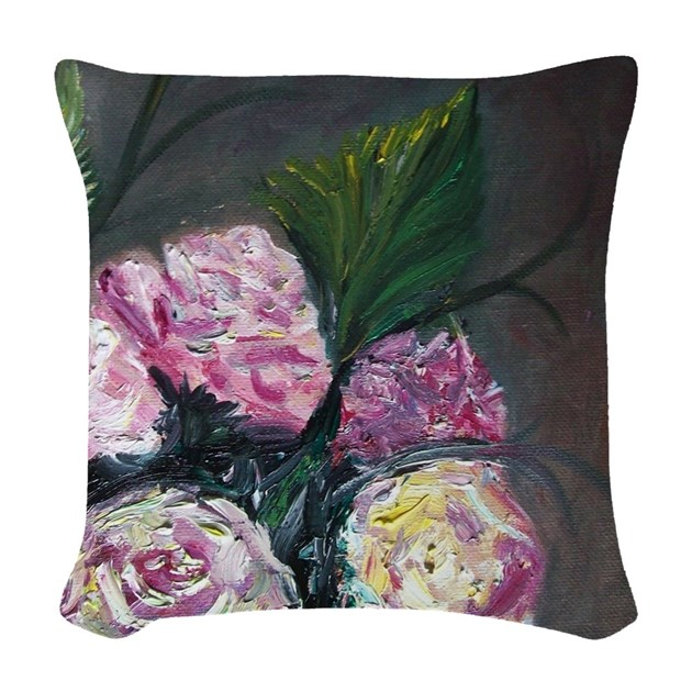 Five Roses Woven Throw Pillow by listing-store-112902888
