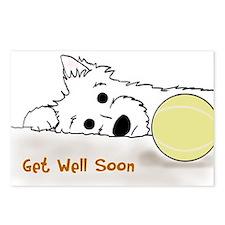 Get Well Westie Postcards (Package of 8)