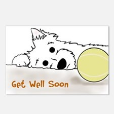Get Well Westie Postcards (Package of 8)