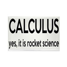 Calculus Is Rocket Science Rectangle Magnet