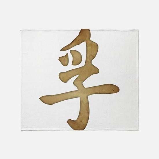 Kanji - Truth Throw Blanket