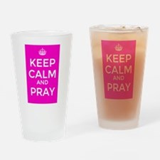 Keep Calm and Pray Drinking Glass
