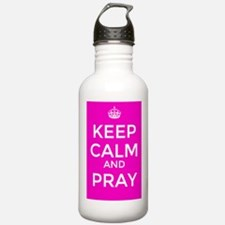 Keep Calm and Pray Water Bottle