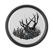 Hidden buck Large Wall Clock