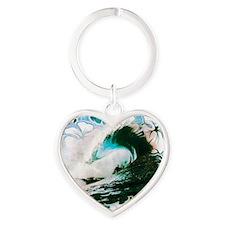 Hawaiian Tropics Heart Keychain