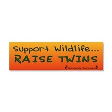 Cute Parents twins Car Magnet 10 x 3