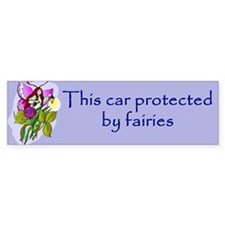protected by fairies Bumper Bumper Sticker