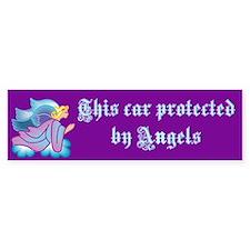protected by angels Bumper Bumper Bumper Sticker