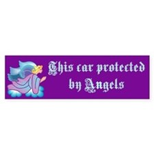 protected by angels Bumper Car Car Sticker