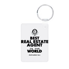 The Best in the World Real Estate Agent Keychains