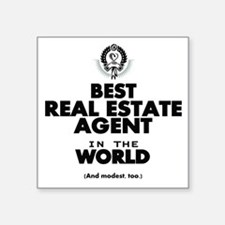 The Best in the World Real Estate Agent Sticker