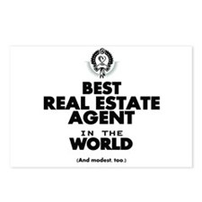 The Best in the World Real Estate Agent Postcards