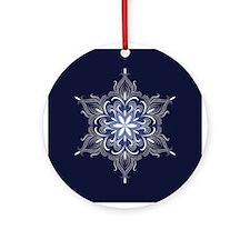 Winter Snowflake Ornament (Round)