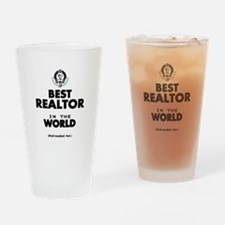 The Best in the World Realtor Drinking Glass