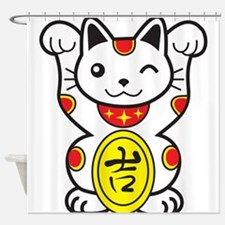 Lucky Cat Shower Curtain