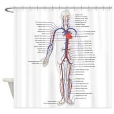 Circulatory System Shower Curtain