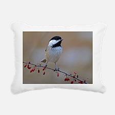 Chickadee on limb 2 Rectangular Canvas Pillow
