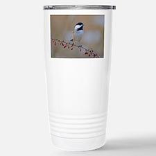 Chickadee on limb 2 Travel Mug