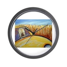 Soft Coated Wheaten Terrier driver Wall Clock