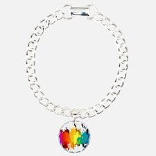 Rainbow Splatter Bracelet