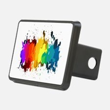 Rainbow Splatter Hitch Cover