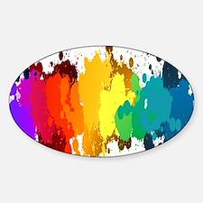 Rainbow Splatter Decal