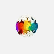 Rainbow Splatter Mini Button