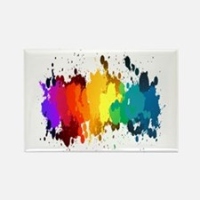 Rainbow Splatter Magnets