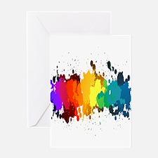Rainbow Splatter Greeting Cards