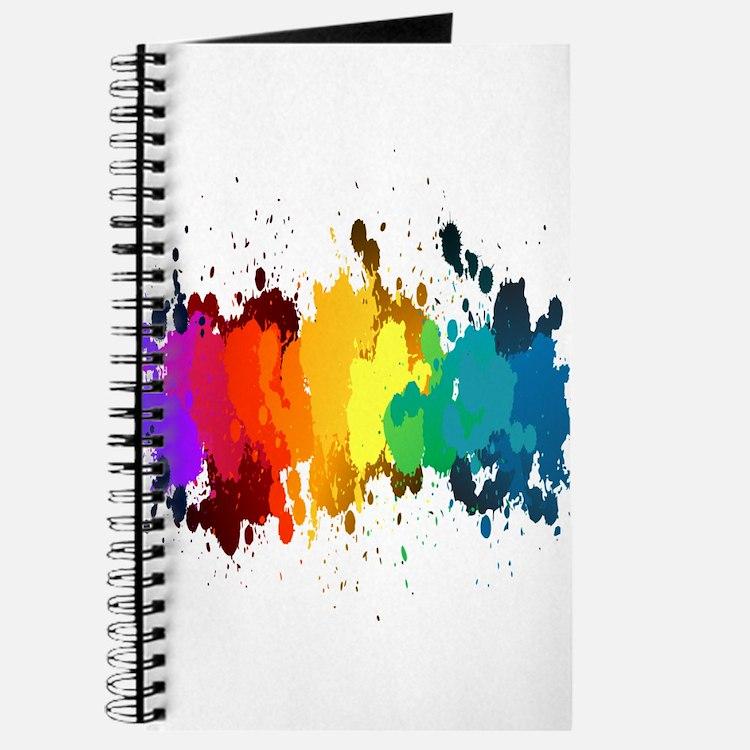 Rainbow Splatter Journal