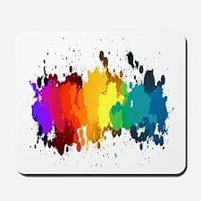 Rainbow Splatter Mousepad