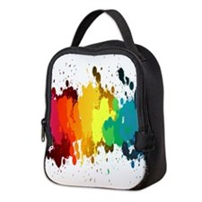 Rainbow Splatter Neoprene Lunch Bag